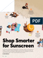 Shop Smarter for Sunscreen