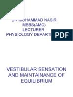 Vestibular Sensation and Equilibrium