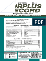 JUNE 2018 Surplus Record Machinery & Equipment Directory