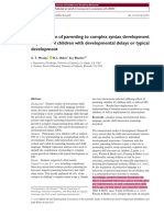 Contribution of Parenting to Complex Syntax Development in Preschool Children With Developmental Delays or Typical Development