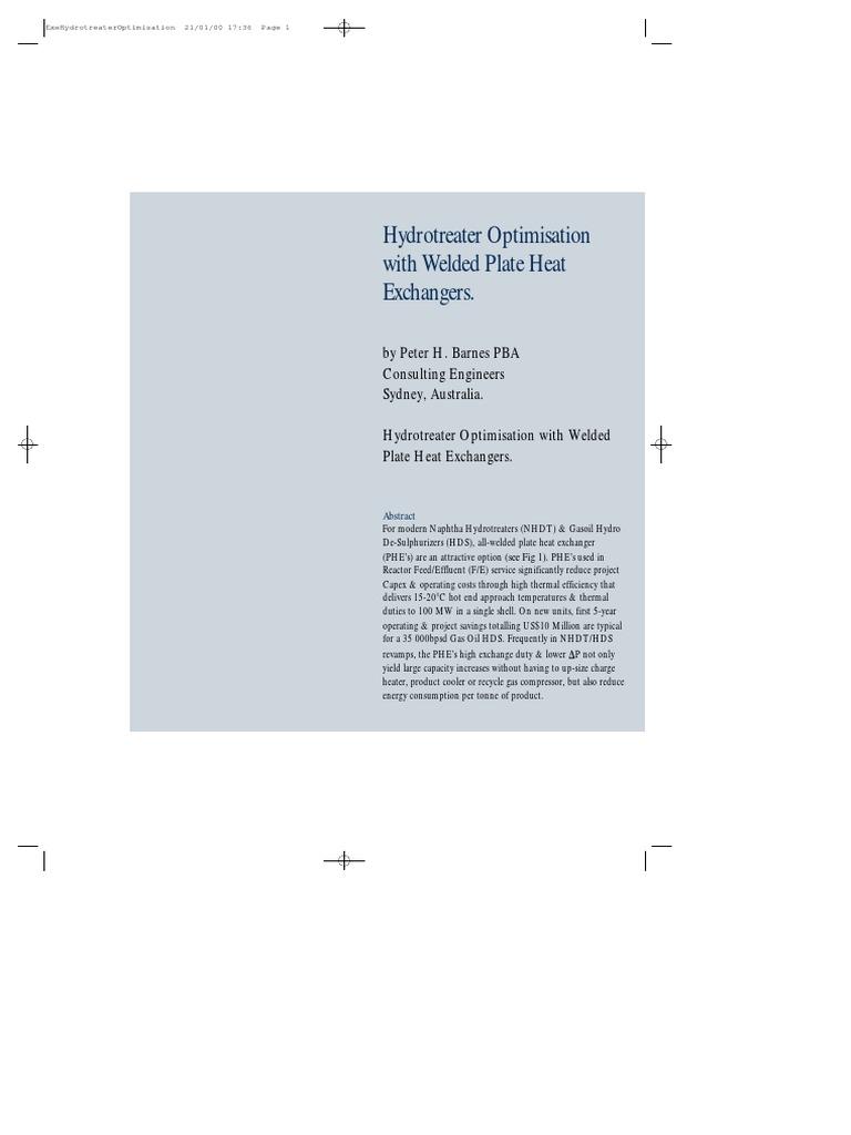 Hydrotreater Optimization With Wphe | Hvac | Heat Exchanger