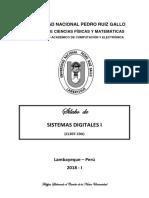 Silabus Del Curso de Sistemas Digitales I 2018-I