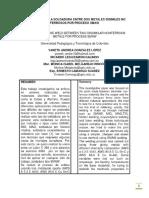 EVALUACIÓN DE LA SOLDADURA ENTRE DOS METALES DISIMILES NO FERROSOS POR PROCESO SMAW - PDF.pdf