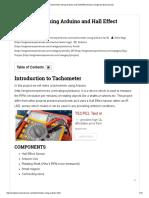 Tachometer Using Arduino and Hall Effect Sensor _ Engineer Experiences