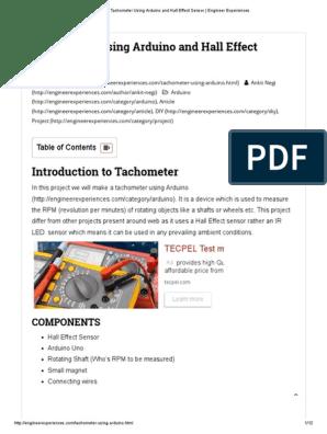 Tachometer Using Arduino and Hall Effect Sensor _ Engineer