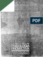 """05 Abt Bellak Psicologia Proyectiva CapPsicología Proyectiva. Méjico. Paidós. Capítulo """"Sobre Los Problemas Del Concepto de Proyección"""