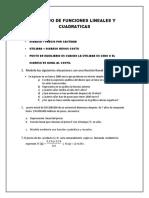 Trabajo de Funciones Lineales y Cuadraticas