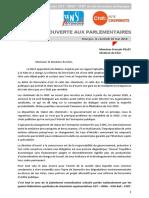 Lettre Ouverte Aux Parlementaires de Cher - 04 Avril 2018 - FP