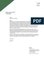 cover letter mindvalley