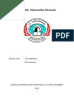 MAKALAH matematika ekonomi tentang fungsi pemintaan.docx