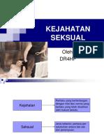 Kejahatan Seksual tentiran