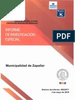 INFORME FINAL DE INVESTIGACIÓN ESPECIAL 992-17 MUNICIPALIDAD DE ZAPALLAR SOBRE EVENTUALES IRREGULARIDADES - MAYO 2018