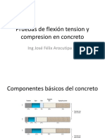 2.1Pruebas de Flexión Tension y Compresion en Concreto