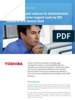 Toshiba Success Story
