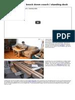 Building a Laptop Table (Wheely Desk) Part 4