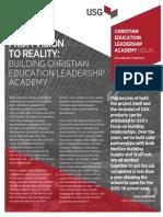 Usg Project Profile Christian Education Leadership Academy En