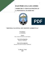 Trabajo Monografico Del Sistema Nacional de Gestion Ambiental Derecho (1)
