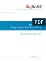JBASE BASIC Programmers Reference Guide