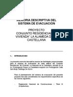 La Castellana Memoria Evacuación Proyecto 01-08-05