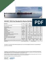 ISO 8217 - 2012 Fuel Standard