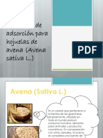 Isotermas de Adsorción Para Hojuelas de Avena