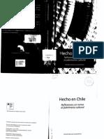 Hecho en Chile. Reflexiones en torno al patrimonio Cultural.  Daniela Marsal (compiladora)