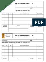 Formato Nota de Requisicion