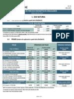 Tarifas Reguladas Abril 2017