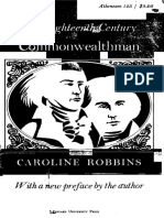 Caroline Robbins - The Eighteenth Century Commonwealthman, Studies in the Transmission, Development and Circumstance of English Liberal Thought from the Restoration of Charles II until the War with the Thirteen Colonies (.pdf