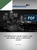 AlgoDynamix EU Referendum Market Insights