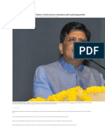 Piyush Goyal to Handle Finance Ministry