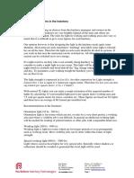 Description of Light Requirements(1)