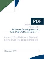 Netsize Online Payment Sdk - Authentication - Technical Annex 3-c to Mpayment