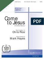 Ven a Cristo