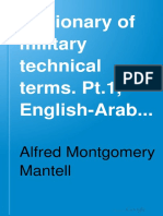 A Dictionary of Military Technical Terms