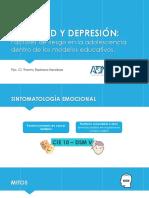 Conferencia IV Jornadas Internacionales Anx y Dep en Adolescencia