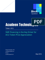 Acudeen ACU Token - Blockspeed Investment Research