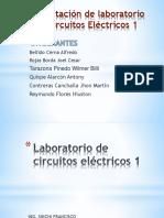 Sustentación de Laboratorio de Circuitos Eléctricos 1