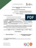 F11 Constancia de Terminación de Servicio Social