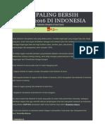 10 Kota Paling Bersih Tahun 2016 Di Indonesia