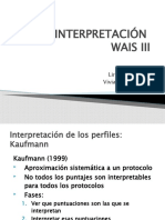 WAIS III - Interpretacion 2010