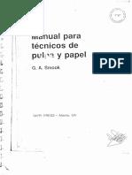 Manual Para Tecnicos de Pulpa y Papel