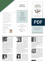 Escritores a La Rueda invitación a presentación Letras Doradas x
