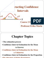 COURSE 2 ECONOMETRICS 2009 confidence interval.ppt