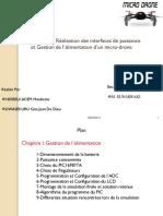 Conception Et Réalisation Des Interfaces de Puissance Et Gestion de l'Alimentation Dun Micro-drone