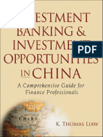 Investment Banking and Opportunities in China