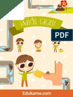 Juegos y Actividades Poster Adios Cacas