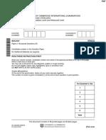 November 2010 (v3) QP - Paper 2 CIE Biology a-level