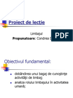 Proiect de Lecţie Limbaj Power