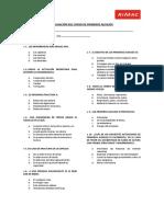 Evaluacion de Curso de Primeros Auxilios Rev01